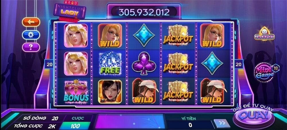 Những biểu tượng có trong game Night club lady