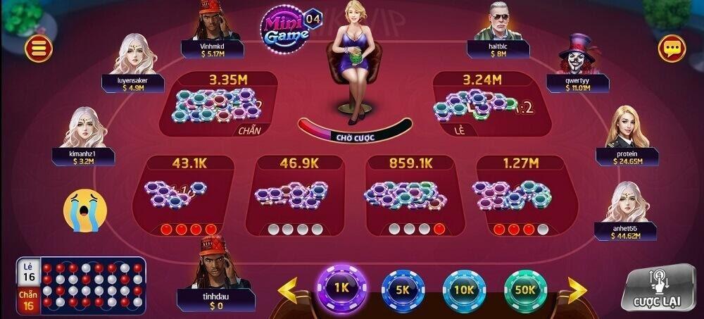 Người chơi hãy chọn mức cược phù hợp và tham gia đặt cược