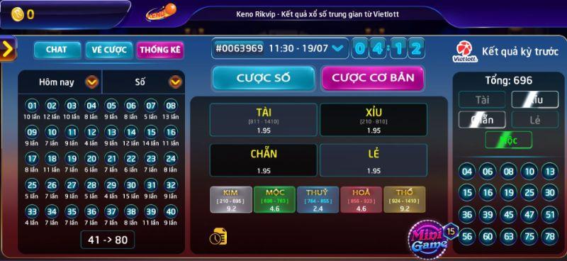 Keno giúp người chơi nhanh chóng làm giàu