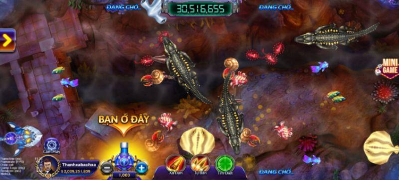 Bắn cá hấp dẫn cùng tựa game điện ảnh mang tên Đại chiến Thái Bình Dương